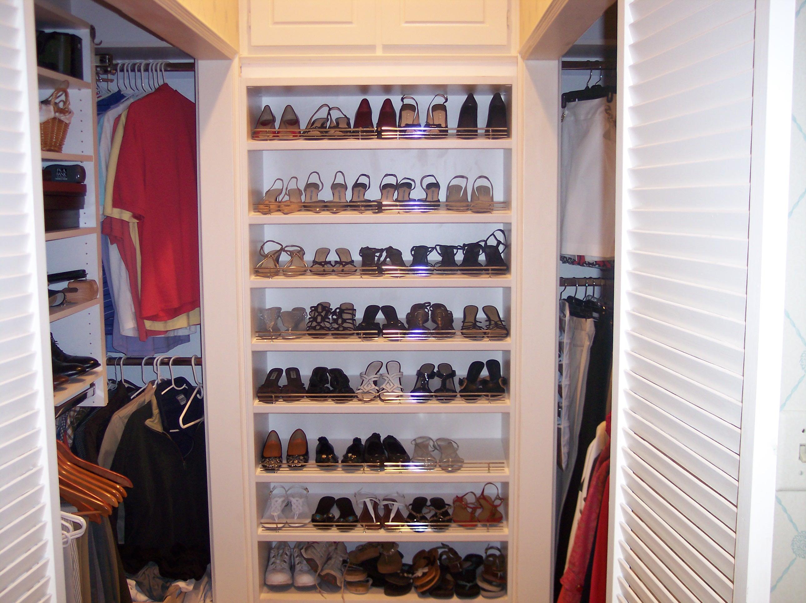 closet closets whiteslopeceiling custom shoe